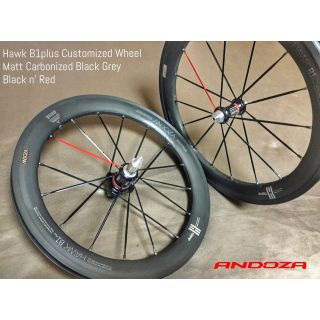 Hawk B1plus Matt Carbonized Black Grey & Color Spoke
